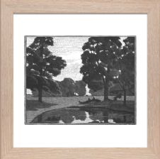 Elms by a Pond - Ready Framed